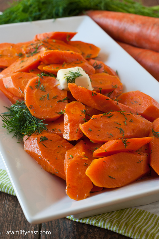 Fresh Carrots with Butter and Dill - A Family Feast