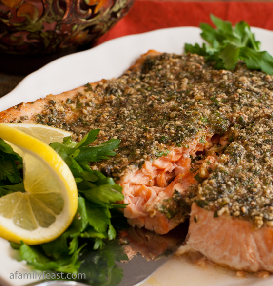 Herb Basted Salmon - A Family Feast