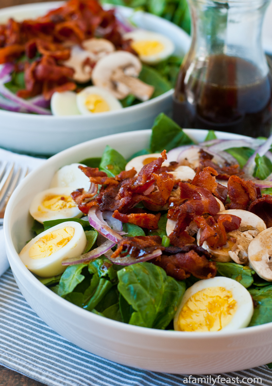... dressing warm bacon potato salad warm spinach salad with smoky pecans