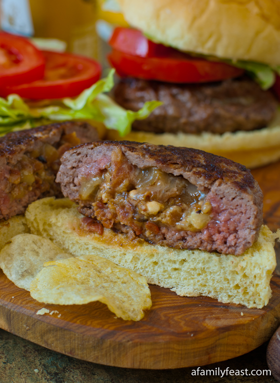 Our Bacon and Blue Cheese Stuffed Burger recipe includes a 'how-to ...