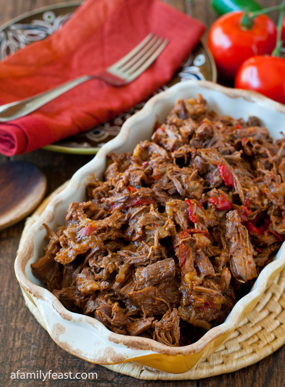 Mexican Shredded Beef - Simple to prepare and super delicious! This fork-tender Mexican shredded beef is delicious on it's own, or in other recipes.