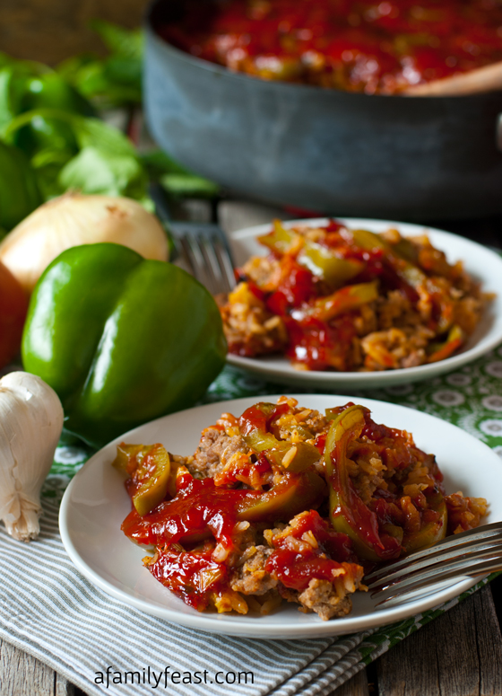 The best Deconstructed Stuffed Peppers recipe - super flavorful and easy. Dinner is ready in about 40 minutes!