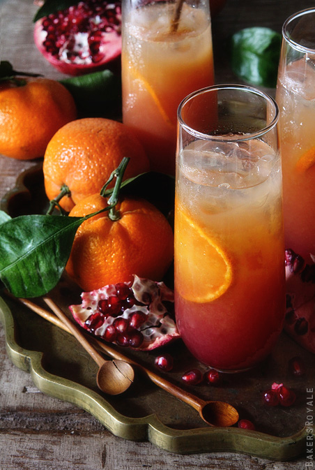 30+ Holiday Cocktails - Satsuma and Pomegranate Campari