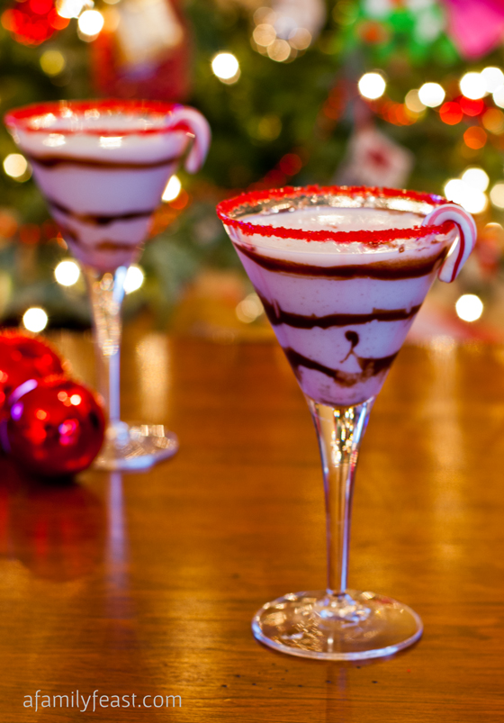30+ Holiday Cocktails - White Chocolate Peppermint Martini