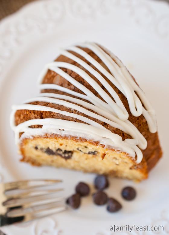 Spiced Eggnog Chocolate Chip Cake - A Family Feast