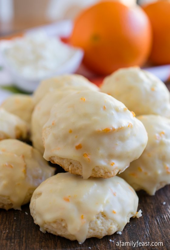 Orange Ricotta Cookies - A Family Feast