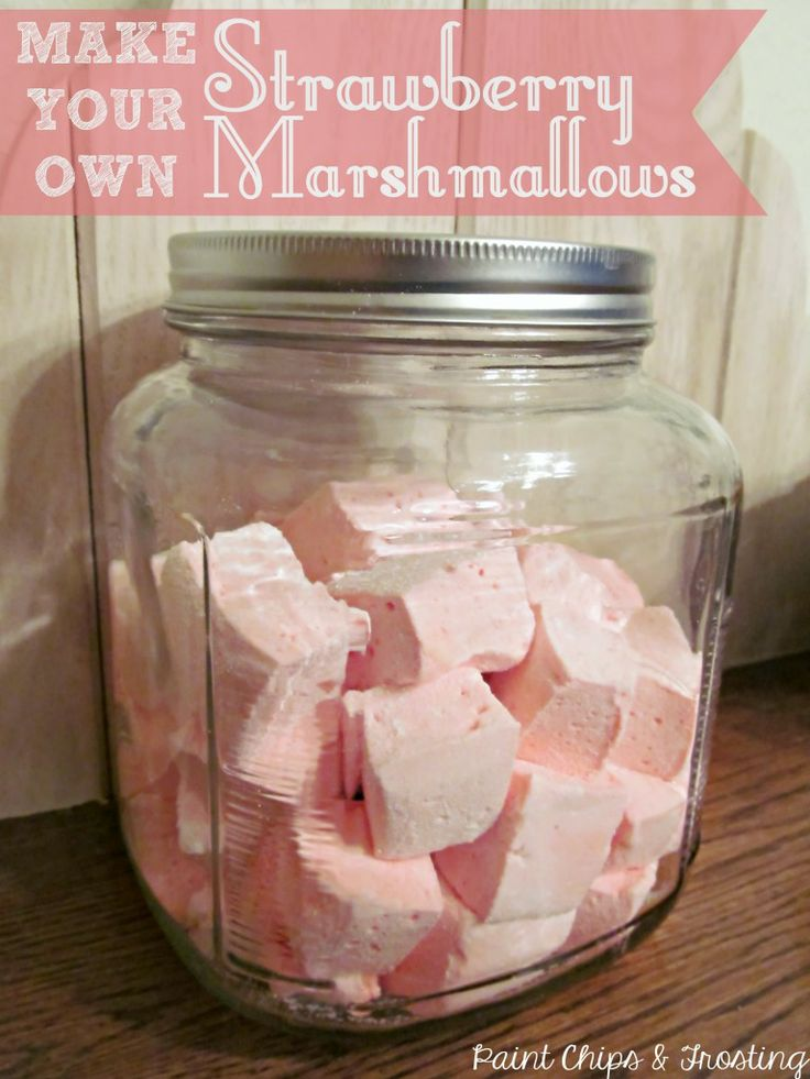 Strawberry Marshmallows - 25 Sweet and Savory Strawberry Recipes