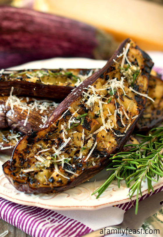 Grilled Eggplant from A Family Feast // PumpUp Blog Favorites - The best summer recipes for BBQ season