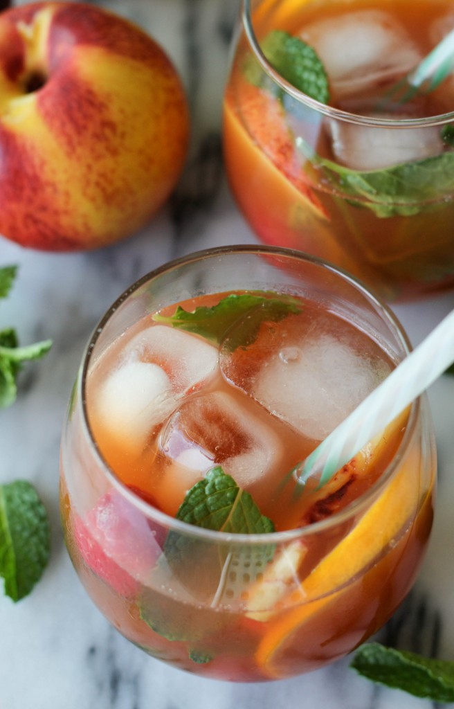 Raspberry Peach Iced Tea - 25-Plus Perfect Peach Recipes