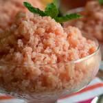 Creamy Melon Granita - A Family Feast