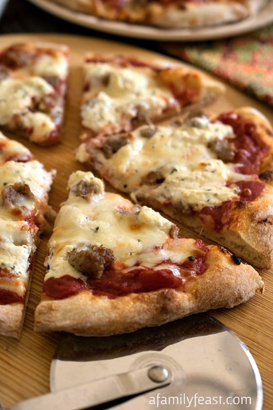 Sausage And Ricotta Pizza A Family Feast