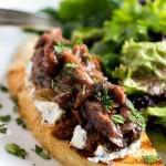 Lamb and Eggplant Crostini with Salad