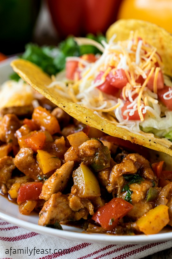 Our Confetti Chicken Tacos are a quick-to-prepare, super delicious ...