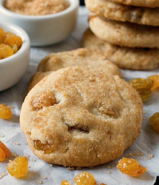 Nanny's Rum Raisin Sugar Cookies
